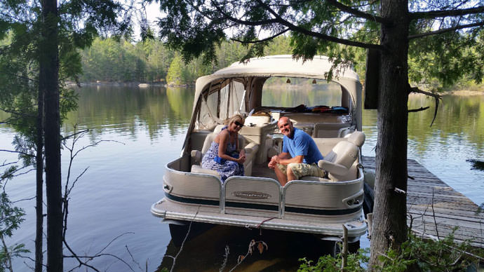 North Bay Outfitters - Pontoon Charter - Lake Talon2