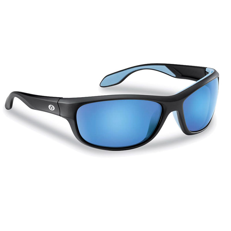Cayo Sunglasses 7824BSB - Matte Black Frame, Smoke (Blue Mirror) Lenses