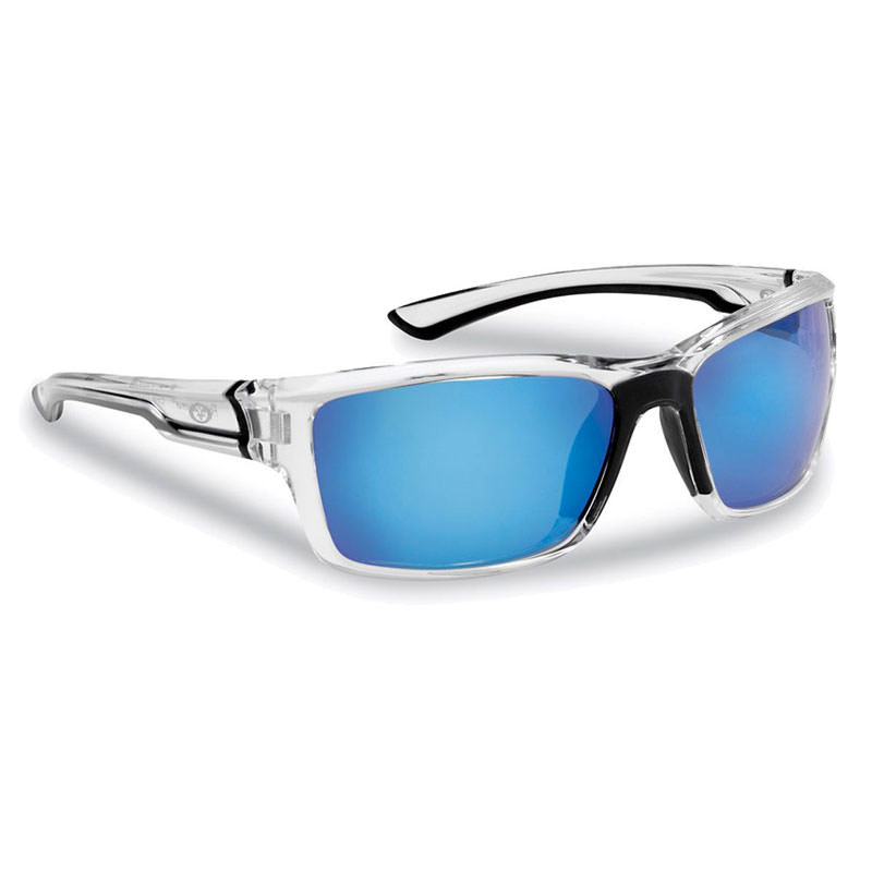 Cove Sunglasses 7721CSB - Crystal Frame, Smoke (Blue Mirror) Lenses