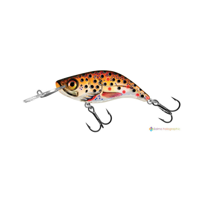 Salmo Sparky Shad - Brown Holographic Trout (BHT) Colour
